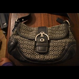 Black Coach Logo Handbag
